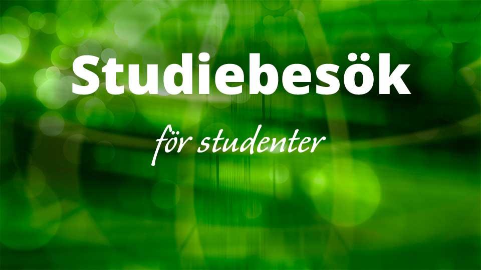 Studiebesök För Studenter